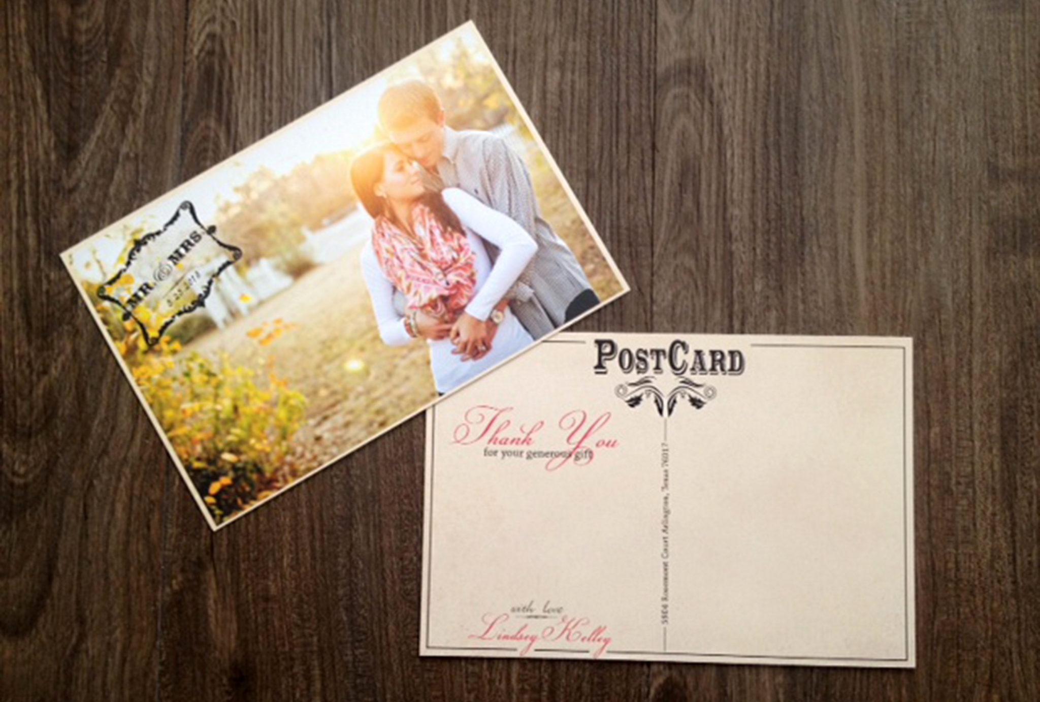 Featured Project: Vintage Thank You Postcard