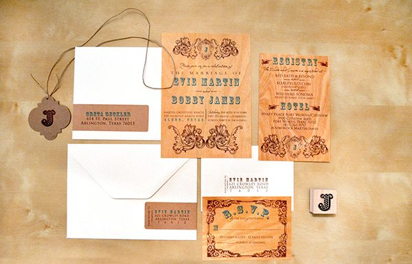 Trending: Wooden Wedding Invitations