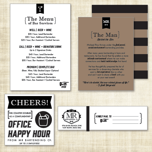MR Bartending Packet