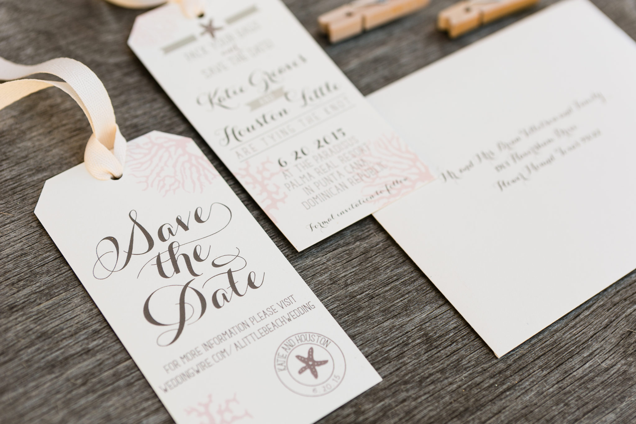 The Bee's Knees Custom DesignLuggage Tag Save the Date - The Bee's ...