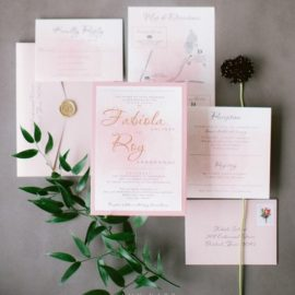 Blush Watercolor and Gold Foil
